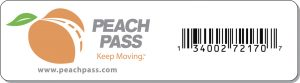 Peach Pass transponder picture