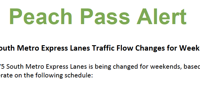 I-75 South Metro Express Lanes Traffic Flow Changes for
